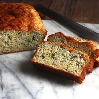 Zucchini, Green Onion, Cheesy Quick Bread.