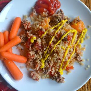 Cheeseburger Quinoa Casserole.