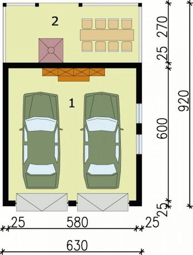 G36 - Rzut garażu