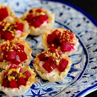 Mini Beet, Goat Cheese & Pistachio Phyllo Cups