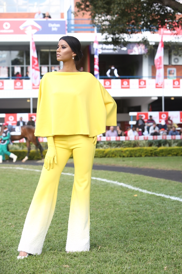 Miss South Africa 2018 Tamaryn Green at the 2018 Vodacom Durban July.