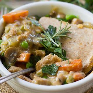 Vegan Chicken Pot Pie.