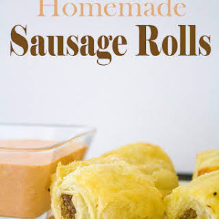Home Made Sausage Rolls.