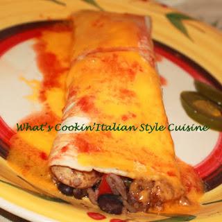 Black Bean Chicken Enchiladas.