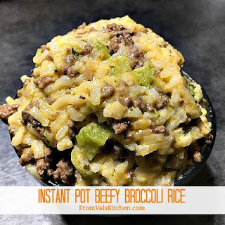 Instant Pot Beefy Broccoli Rice.