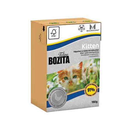 Bozita Feline Kitten bitar i gele 190 g