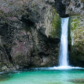 waterfall by Renata Peterman - Landscapes Waterscapes ( waterfall, canyon, landscape, spring, river )