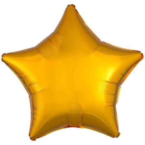 Folieballong, stjärna metallic guld 48 cm