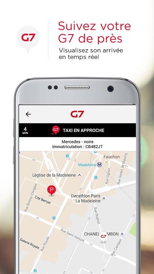 G7 abonn commande de taxi applications android sur for Garage des taxis g7