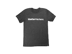 MatterHackers Printed Heather T-Shirts Dark Grey Heather Small