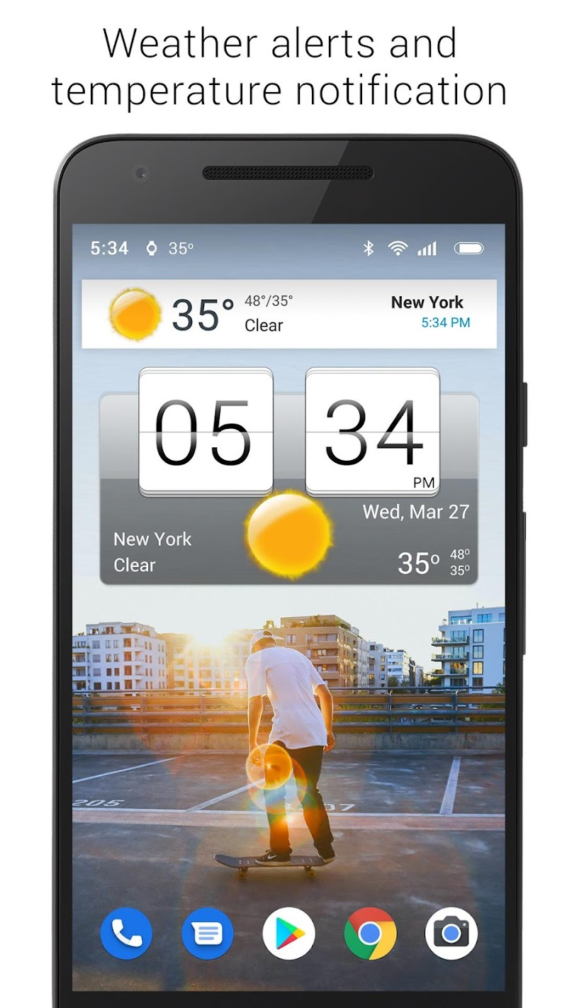 Sense Flip Clock & Weather (Ad-free) Screenshot 9