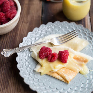 Whole Wheat Crepes with Lemon Curd and Berries