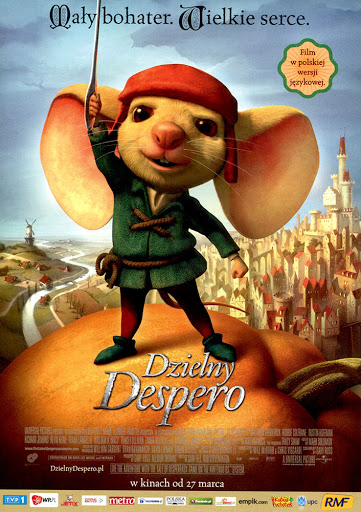 Przód ulotki filmu 'Dzielny Despero'