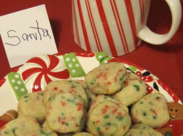 Melt In Your Mouth Shortbread Cookies For Any Occasion. Just Switch Up The Color Of Sprinkles