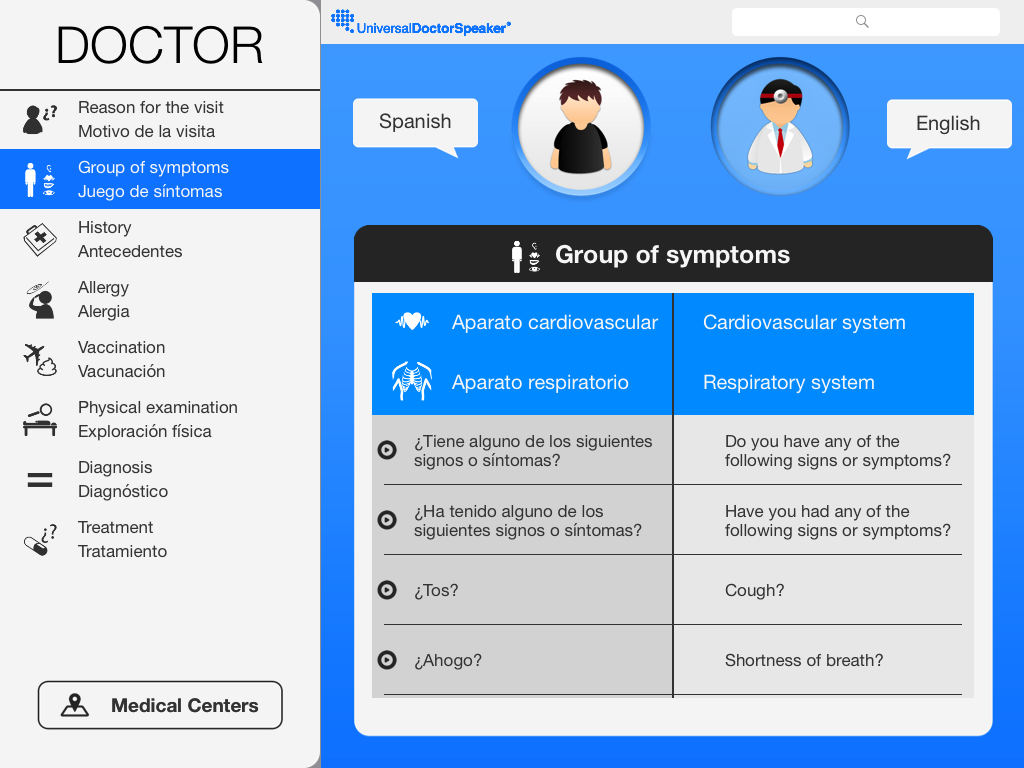 Universal Doctor Speaker: captura de pantalla