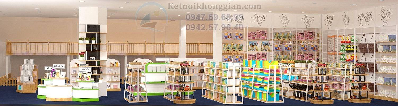 thiết kế nội thất nhà sách đẹp và chuyên nghiệp