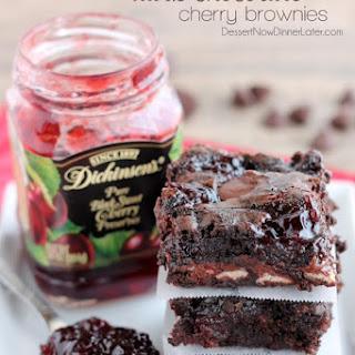 Dark Chocolate Cherry Brownies.