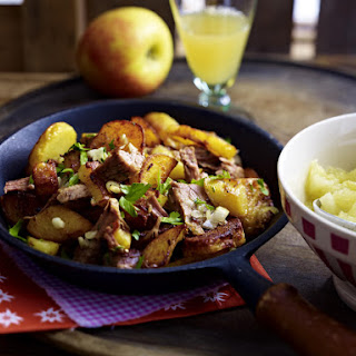 Roast Beef Hash with Applesauce