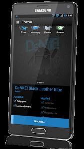 CM12 Theme  Black Leather Blue v1.64