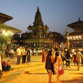Kathmandu Nights by Raj Tandukar - City,  Street & Park  Night ( kathmandu, patan, patan durbar square, world heritage site )