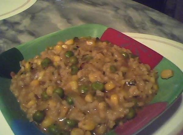 Cilantro Onion Yellow Rice & Veggies Recipe