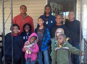 Photo: Kaleya, Kamau, Ameerah, Austin, Miles, Q, Jihad, Damian, Aiden - all at Mama Frances' house