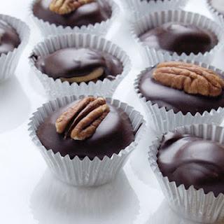 Dark Chocolate Turtle Cups.