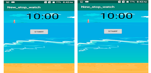 Its a new time New Stop Watch Countdown Timer