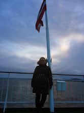 Photo: Laivo gale - Latvijos vėliava.