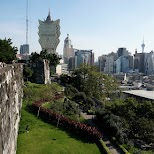 view from Monte Fort in Macau in Macau, , Macau SAR