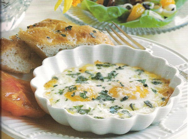 Baked Herbed Eggs Recipe