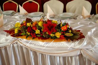 Photo: Jesienny klimat tak się zaczyna, jest róża piano i jarzębina.. - dekoracja sali Dwór Ostoia Klimkówka