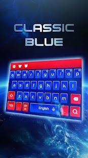 Klasická modrá klávesnice - náhled