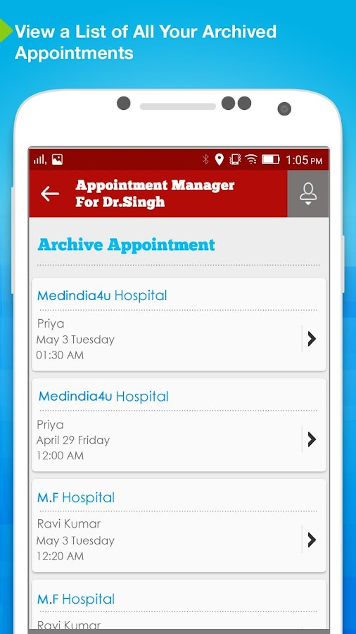 Appointment Manager: Doctors- screenshot