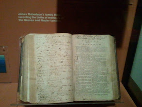 Photo: James Robertson's Family Bible