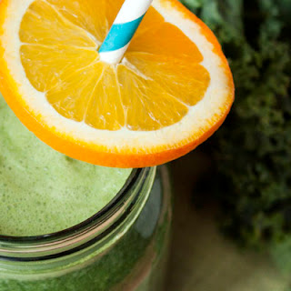 Orange Kale Protein Green Juice.
