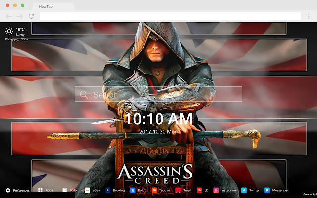 Assassin's Creed Syndicate New Tab HD Themes