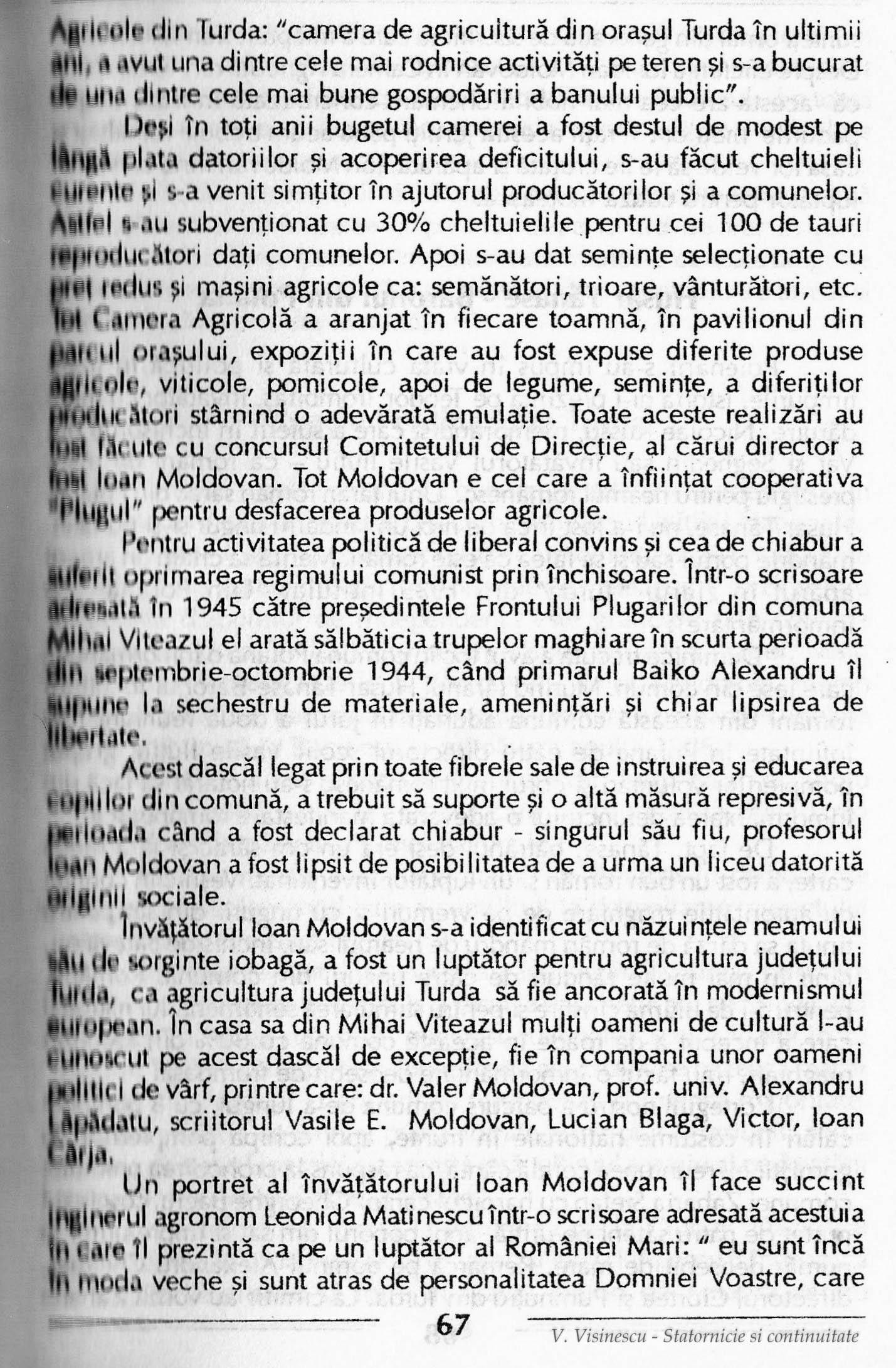 """Photo: 67 - Ioan Moldovan - A infiintat cooperativa """"Plugul"""" pentru desfacerea produselor agricole. Pentru activitatea politica de liberal si cea de chiabur a suferit oprimarea regimului comunist prin inchisoare."""