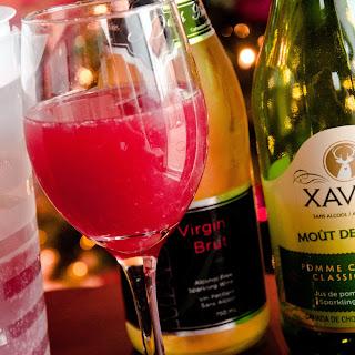 Non-Alcoholic Sparkling Pomegranate Mimosa
