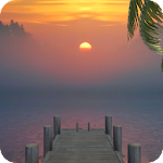 Sunset Dock 3D Live Wallpaper Icon