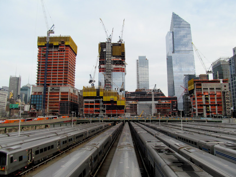 Photo: Several new buildings over the rail yard
