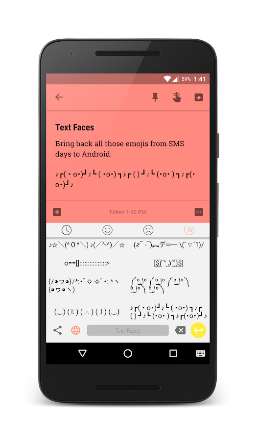 Text Faces - Emoji Keyboard- screenshot