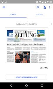 az Solothurner Zeitung E-Paper screenshot 0