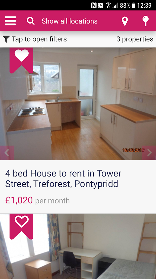 Glamorgan Student Lettings- screenshot