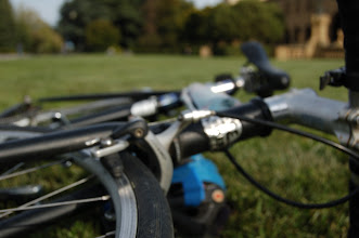 Photo: Requirement 3 (out of focus): The closest part of the photo is almost in focus, but not quite. Everything else is out of focus, making the bike brand and components fuzzy.