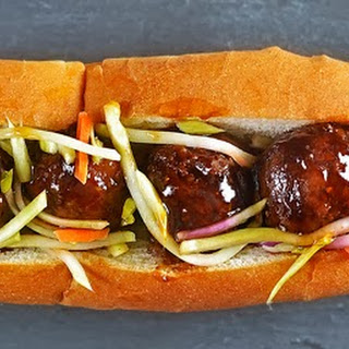 Asian Meatball Subs