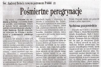"""Photo: Artykuł prasowy """"Źródło"""", 2002 r. (fragment)"""