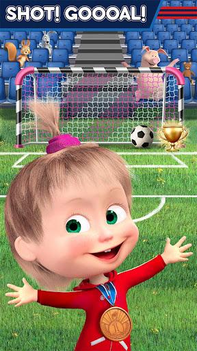 Masha and the Bear: Football Games for kids screenshots 3