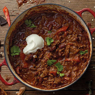 Chilli Con Carne With Dark Chocolate.