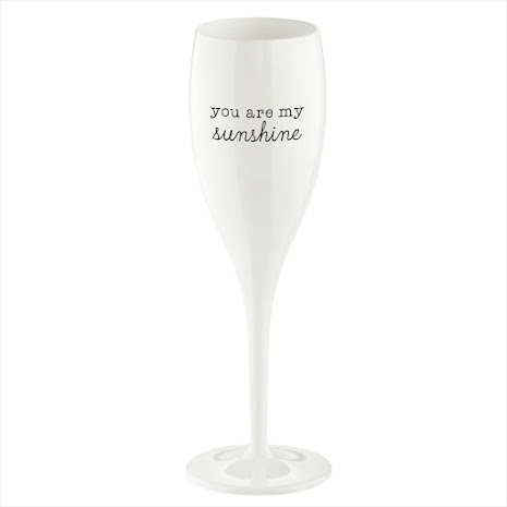 CHEERS NO.1 Champagneglas YOU ARE MY SUNSHINE 6-pack